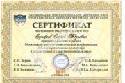 Сертификат XX конференция 2014